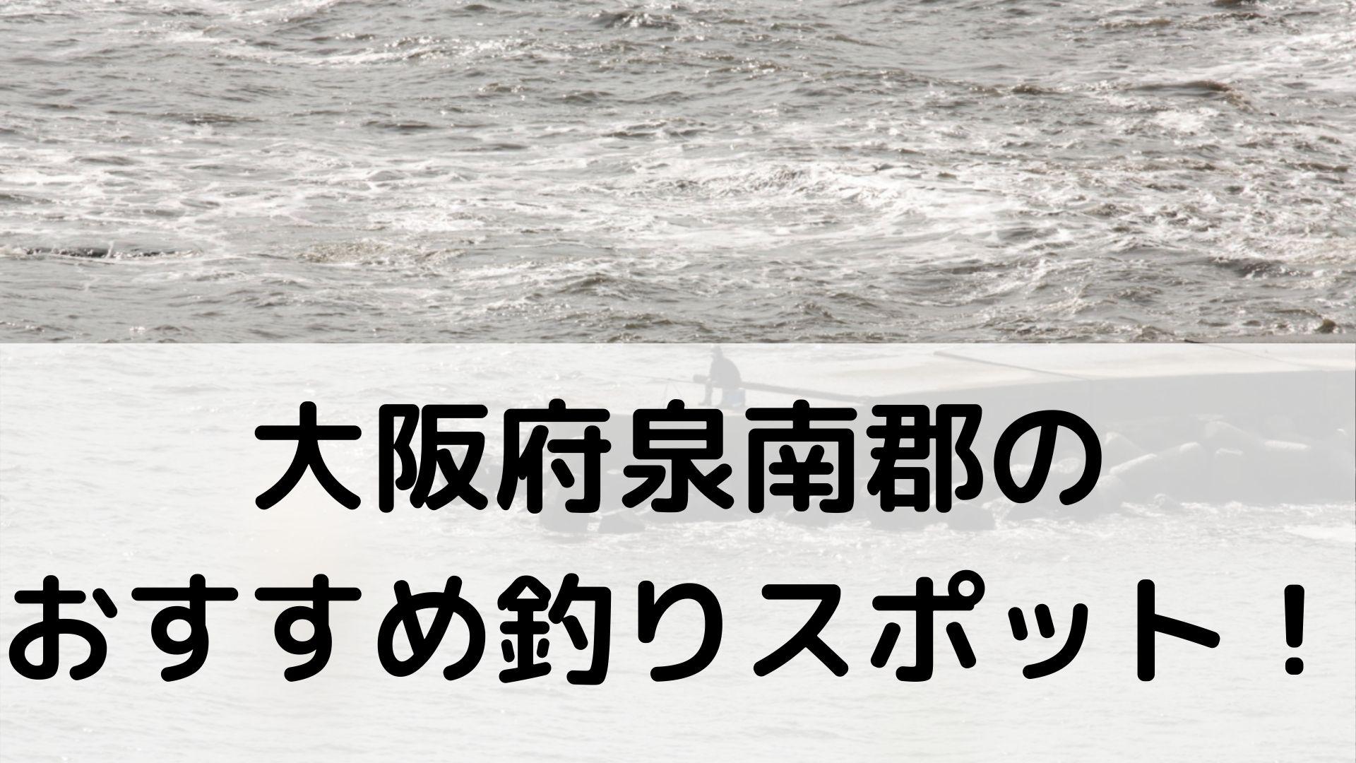 大阪府泉南郡のおすすめ釣りスポットに関する参考画像