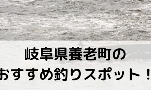 岐阜県養老町のおすすめ釣りスポットに関する参考画像