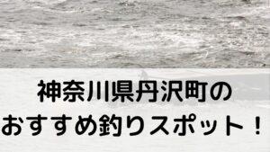 神奈川県丹沢町のおすすめ釣りスポットに関する参考画像